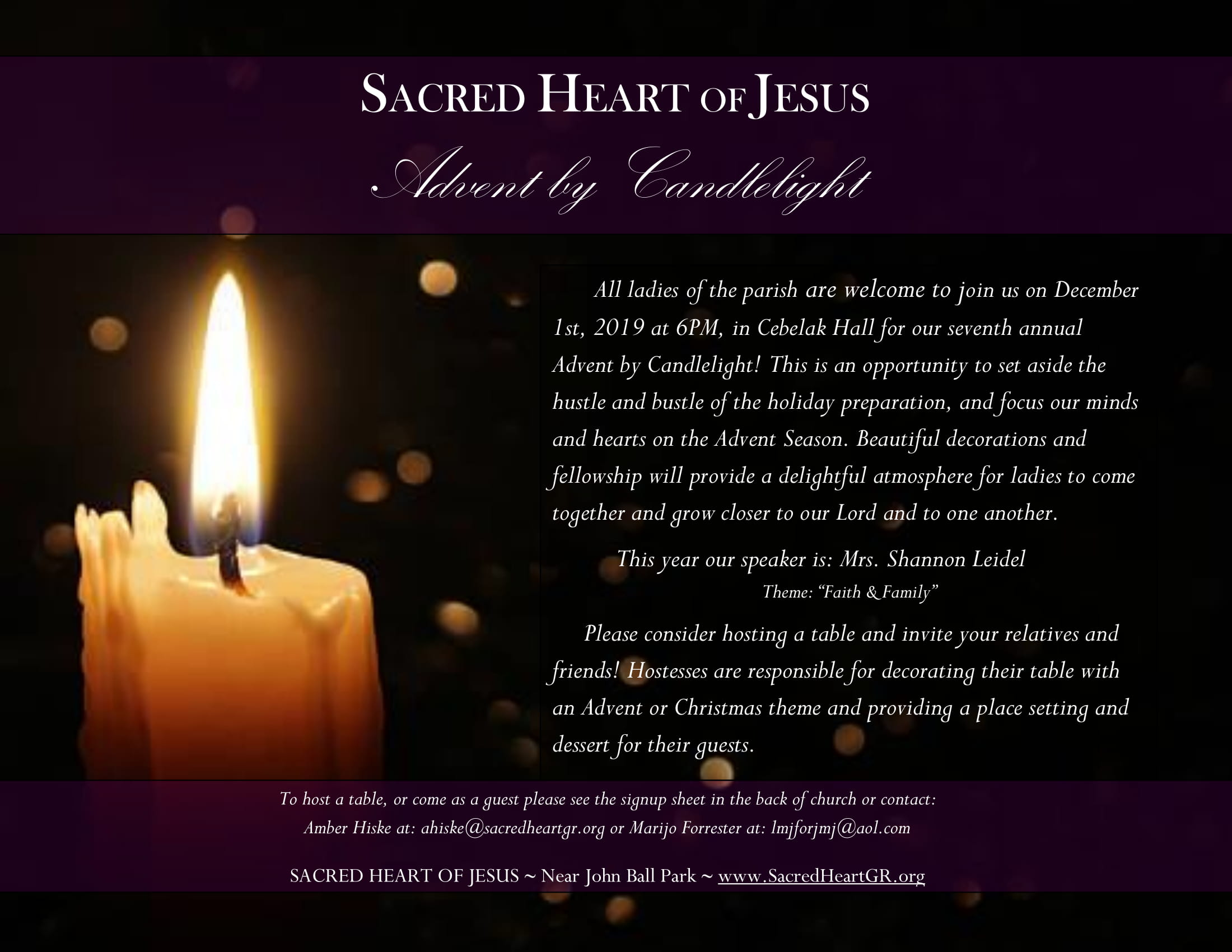 Advent by Candlelight – Dec. 1st