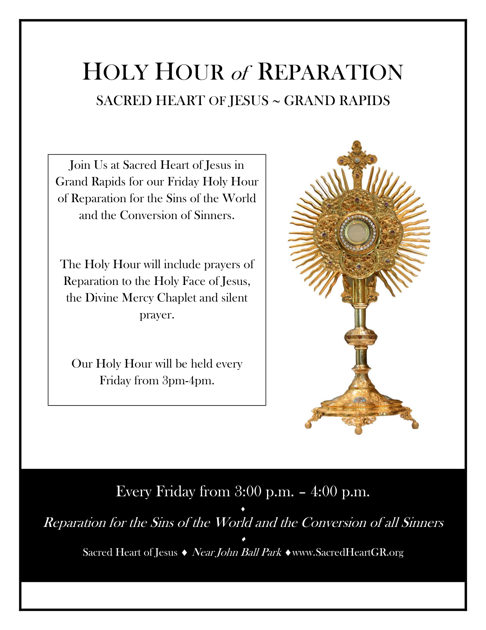 First Friday Holy Hour of Reparation & Adoration