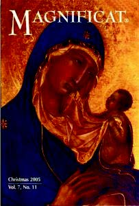 Time for Magnificat Magazine Renewal and Sign-up!