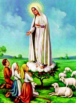 Our Lady of Fatima Statue here through May