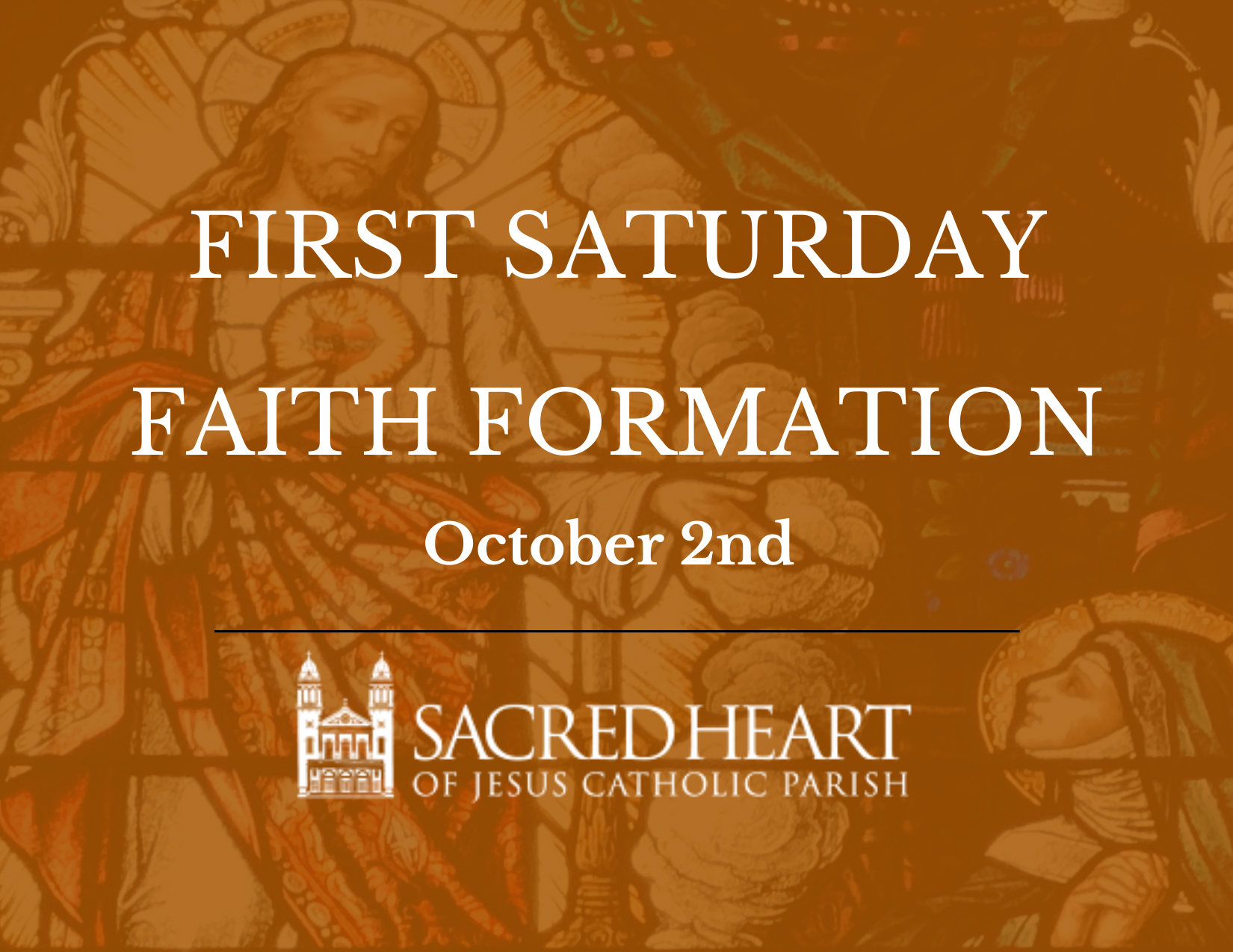 First Saturday Devotion, Family Catechesis and Potluck Breakfast – October 2nd